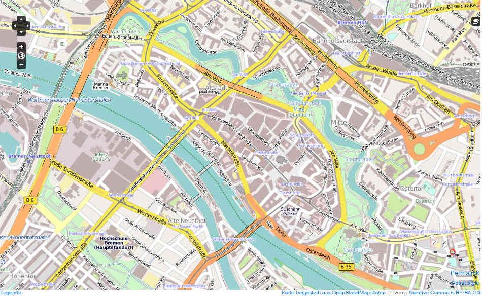 karte bremen innenstadt Bremen Karte