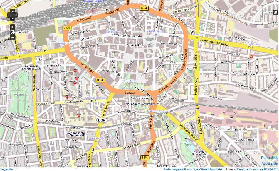 karte dortmund Dortmund Karte