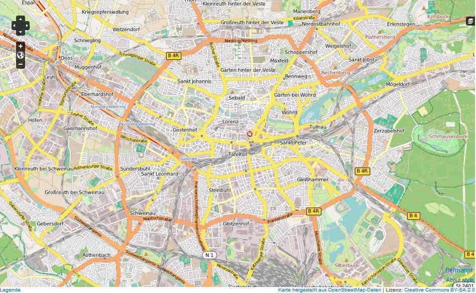 karte nürnberg Nürnberg Karte