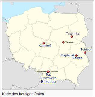 Auschwitz Karte.Vernichtungslager